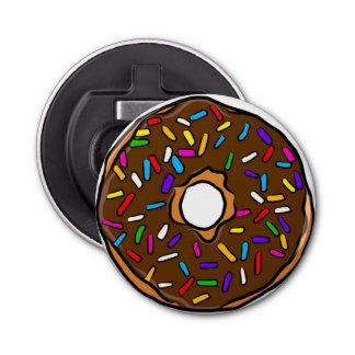 Chocolate Donut Rainbow Colorful Sprinkles Art Yum Bottle Opener