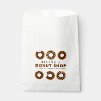 Chocolate Donut Shop Birthday Party Favour Bag