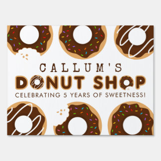Chocolate Donut Shop Birthday Party Sign