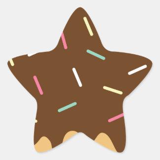 Chocolate Donut Star Sticker