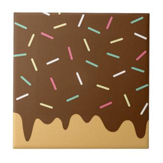 Chocolate Donut Tile