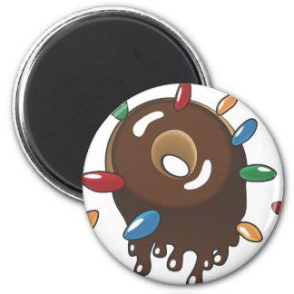 Chocolate Donut w/Sprinkles Magnet