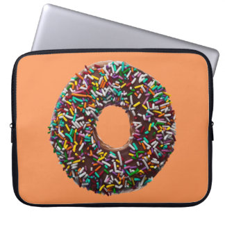 Chocolate Donut with colorful sprinkles Laptop Sleeve