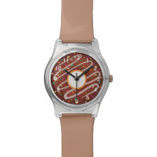 Chocolate Donut with Rainbow Sprinkles Watch