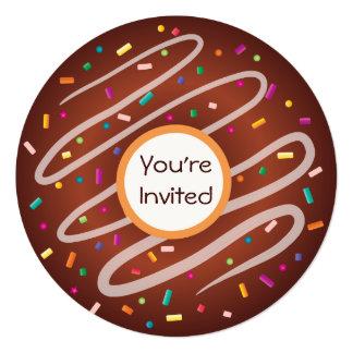 Chocolate Donut with Sprinkles Birthday Card