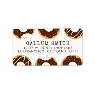 Chocolate Donuts Label
