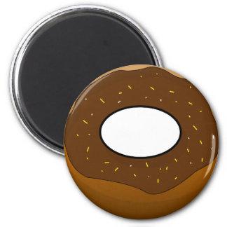 Chocolate Doughnut 2 Inch Round Magnet