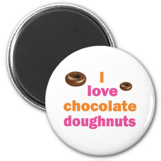 Chocolate Doughnut Love 2 Inch Round Magnet
