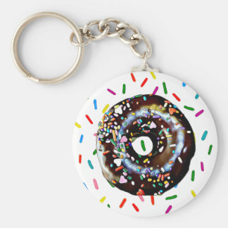 Chocolate Doughnut with Sprinkles Key Chain