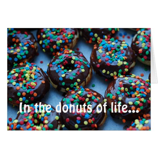 Chocolate Doughnuts with Sprinkles Card