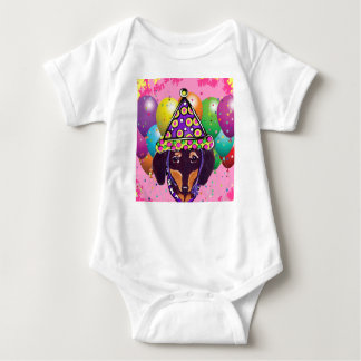 Chocolate Doxie Baby Bodysuit