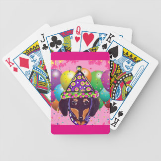 Chocolate Doxie Bicycle Playing Cards