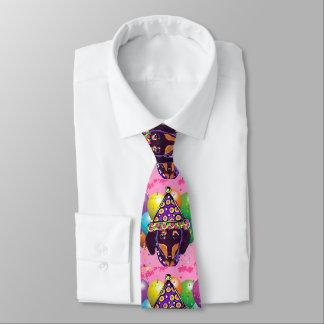Chocolate Doxie Tie