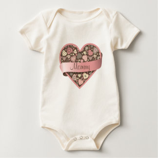 Chocolate Dream heart with banner Baby Bodysuit