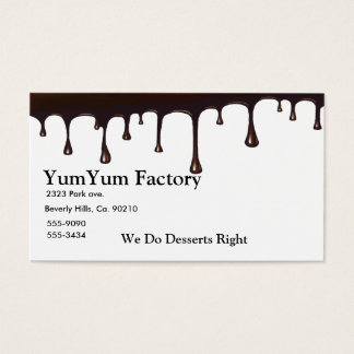Chocolate Drip Set Business Card