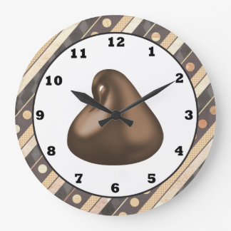 Chocolate Drop cartoon wall clock