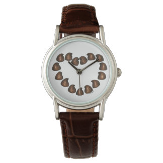 Chocolate Drops Candy Love Heart Valentine's Watch