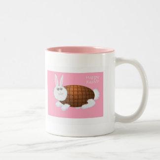 Chocolate Easter Bunny , pink Coffee Mug