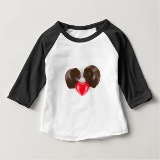 Chocolate egg and heart baby T-Shirt