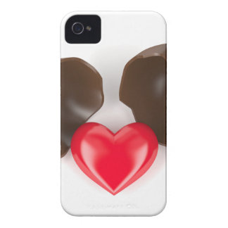 Chocolate egg and heart Case-Mate iPhone 4 cases