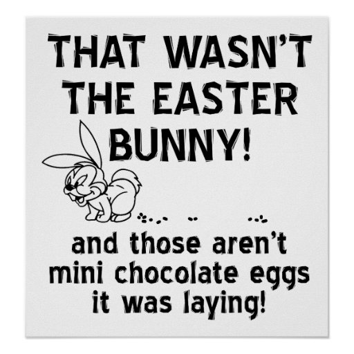 'Chocolate' Eggs Funny Poster