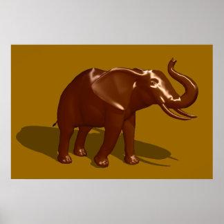 Chocolate Elephant Poster