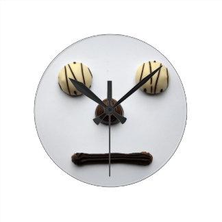 """Chocolate Face"" Wall Clock"