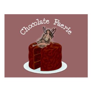 Chocolate Faerie Postcard