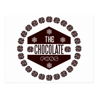 chocolate fans postcard