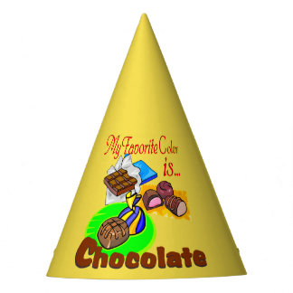 Chocolate Favorite Color Party hat