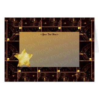 Chocolate Foiled Star template