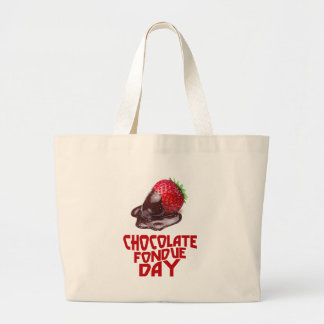 Chocolate Fondue Day - Appreciation Day Large Tote Bag
