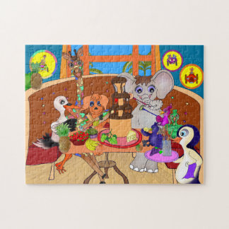 Chocolate Fondue Dinner Jigsaw Puzzle