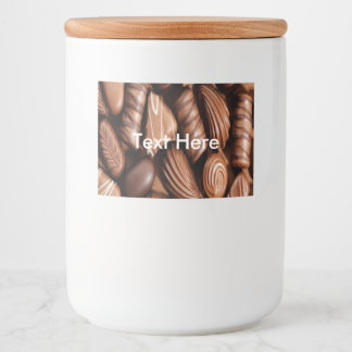 Chocolate Food and Beverage Label Sheet