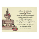 Chocolate Fountain and Strawberries 5x7 Paper Invitation Card