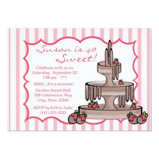 Chocolate Fountain Birthday Card