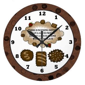 Chocolate Friendship sweet treat wall clock