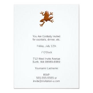 "Chocolate Frog 4.25"" X 5.5"" Invitation Card"