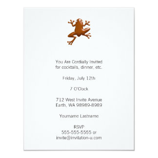 Chocolate Frog 4.25x5.5 Paper Invitation Card