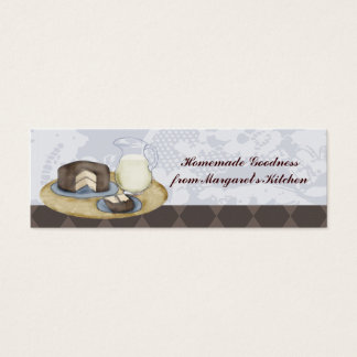Chocolate frosted cake slice milk baking gift tags