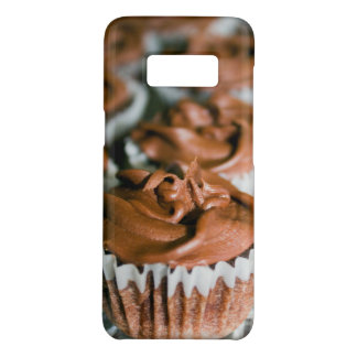 Chocolate Frosted Cupcakes on a Plate Photo Case-Mate Samsung Galaxy S8 Case