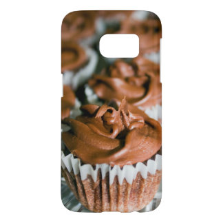 Chocolate Frosted Cupcakes on a Plate Photo Samsung Galaxy S7 Case
