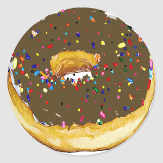 Chocolate Frosted Donut with Sprinkles Sticker