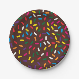 Chocolate Frosted Sprinkles Paper Plates
