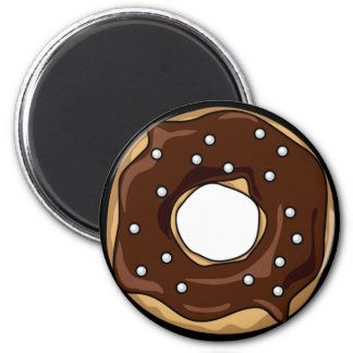 Chocolate Frosted with Nonpareil Sprinkles Donut Magnet