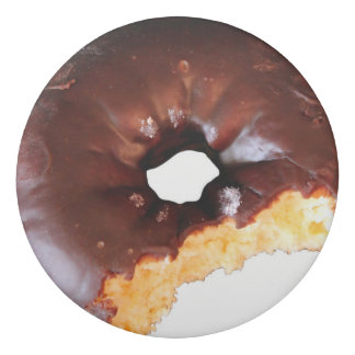 Chocolate Frosted Yellow Cake Donut with Bite Out Eraser