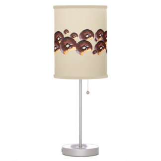 Chocolate Frosted Yellow Cake Donut with Bite Out Table Lamp