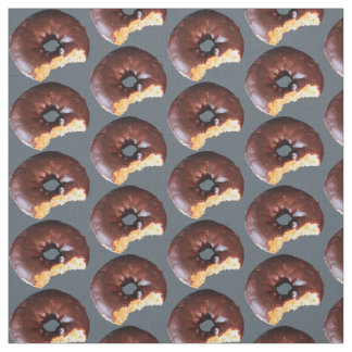 Chocolate Frosted Yellow Cake Donuts Any BG Color Fabric