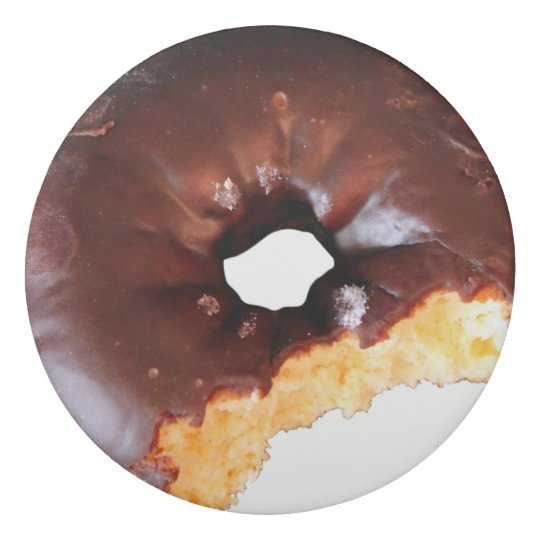 Chocolate Frosted Yellow Cake Doughnut with Bite Eraser