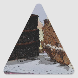 Chocolate Fudge and Carrot Cake - illustrated Sticker